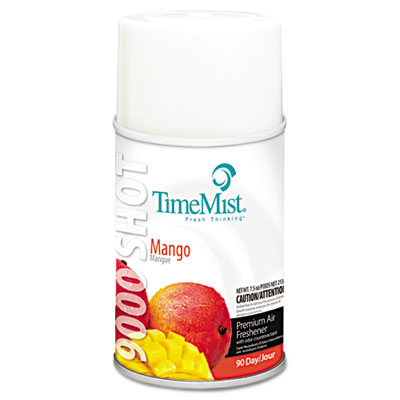 9000 Shot Metered Air Fresheners, Mango, 7.5oz Aerosol, 4/Carton