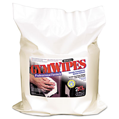 Antibacterial Gym Wipes Refill, 6 x 8, Unscented, 700/Pack, 4 Pa