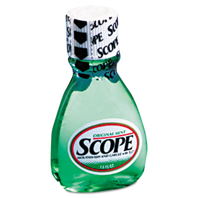 Mouthwash, Mint, 1.5oz Bottle, 180/Carton