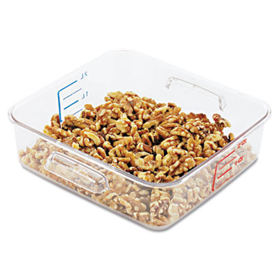 SpaceSaver Square Containers, 2qt, 8 4/5w x 8 3/4d x 2 7/10h, Cl