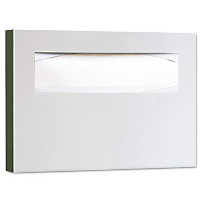 Bobrick Washroom 221 Stainless Steel Toilet Seat Cover Dispenser, 15 3/4 x 2 x 11, Satin Finish at Sears.com