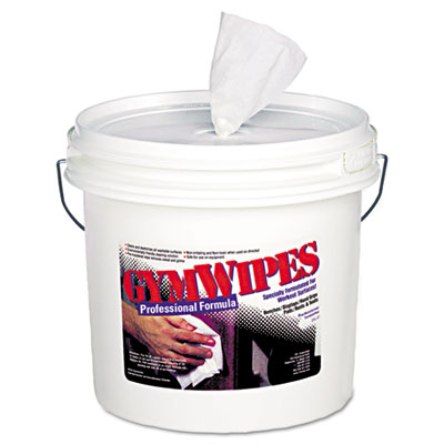 Antibacterial Gym Wipes, 6 x 8, Unscented, 700/Bucket, 2 Buckets