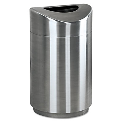 Eclipse Open Top Waste Receptacle, Round, Steel, 30gal, Stainles