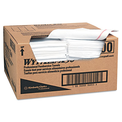 WYPALL X50 Wipers, 23 1/2 x 12 1/2, White, 200/Carton