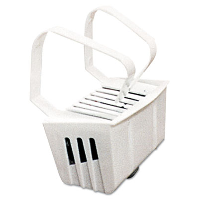 Non-Para Toilet Bowl Block, Lasts 30 Days, White, Evergreen Frag