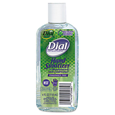 Antibacterial Hand Sanitizer with Moisturizers, 4oz Bottle, 24/C