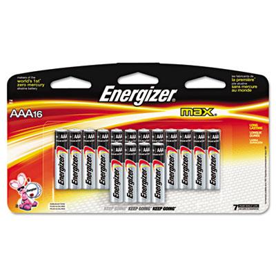 MAX Alkaline Batteries, AAA, 16 Batteries/Pack