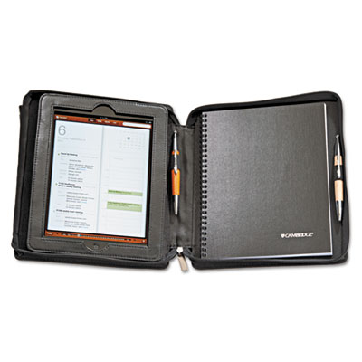 Deluxe iPad Case, Simulated Leather, 9-3/4 x 4-3/10 x 11-1/8, Bl