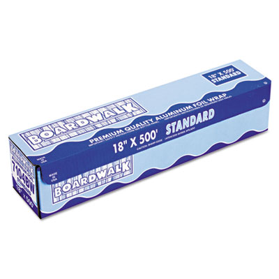 "Standard Aluminum Foil Roll, 12"" x 500ft, 14 Micron Thickness, S"