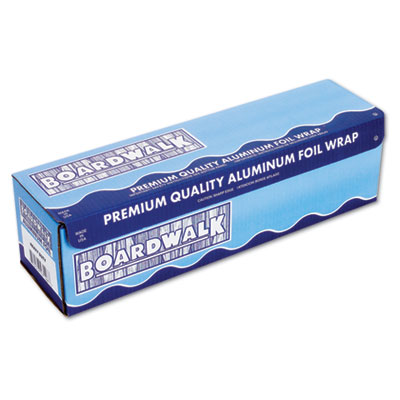 "Heavy-Duty Aluminum Foil Roll, 12"" x 500ft, 20 Micron Thickness,"