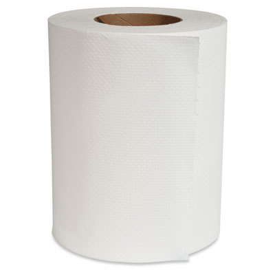 Center-Pull Hand Towels, 8 x 12, White, 300/Roll, 6 Rolls/Carton