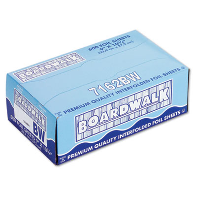 Pop-Up Aluminum Foil Wrap Sheets, 9 x 10 3/4, Silver, 500/Box, 6