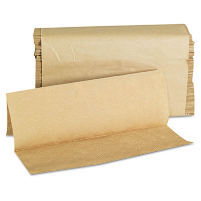 Folded Paper Towels, Multifold, 9 x 9 1/2, Kraft, 250 Towels/Pac