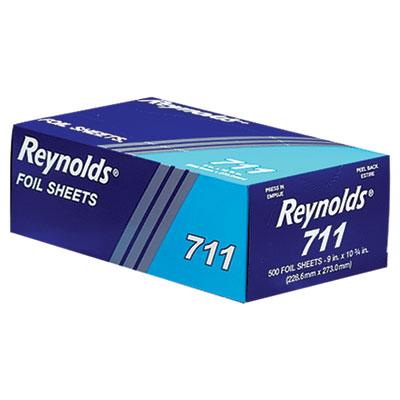 Pop-Up Interfolded Aluminum Foil Sheets, 9 x 10 3/4, Silver, 500