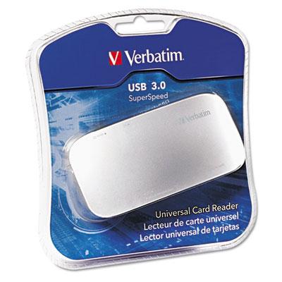 Universal Card Reader, USB 3.0, Silver, Windows/Mac