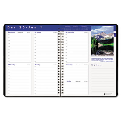 Earthscapes Executive Hardcover Weekly Appointment Book, 8-1/2 x