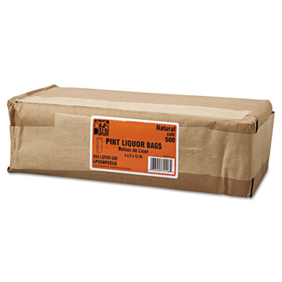 Paper Bag, 35lb Kraft, Brown, 3 3/4 x 2 1/4 x 11 1/4, 500/Pack