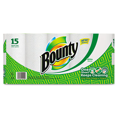 TOWEL, 2PLY, BNTY, 15/PK, WH