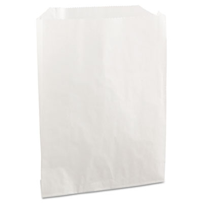 PB19 Grease-Resistant Sandwich/Pastry Bags, 6 x 3/4 x 7 1/4, Whi