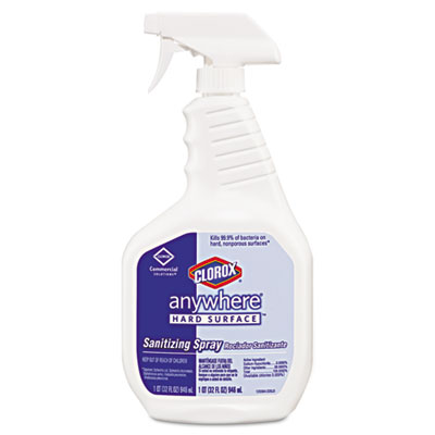 Anywhere Hard Surface Sanitizing Spray, 32oz Spray Bottle, 12/Ca