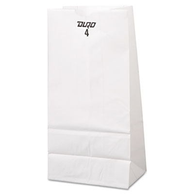 4# Paper Bag, 30lb, White, 5 x 3 1/3 x 9 3/4, 500/Pack
