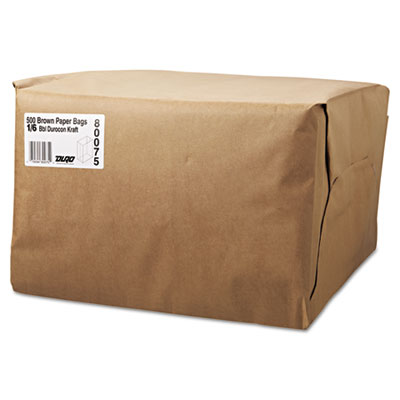 1/6 52# Paper Bag, 52lb Kraft, Brown, 12 x 7 x 17, 500/Bundle