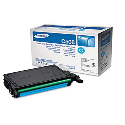 CLT-C508L (SU058A) High-Yield Toner, 4000 Page-Yield, Cyan<br />91-SAS-SU058A