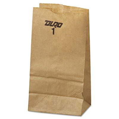 1# Paper Bag, 30lb Kraft, Brown, 3 1/2 x 6 7/8, 500/Pack