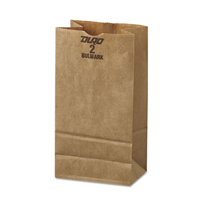 2# Paper Bag, 50lb Kraft, Brown, 4 5/16 x 2 7/16 x 7 7/8, 500/Pa