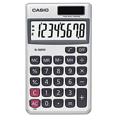 SL-300SV Handheld Calculator, 8-Digit LCD<br />91-CSO-SL300SV