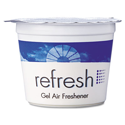 Re-Fresh Gel Air Freshener, Lemon, 4.6oz Cassette, 12/Box