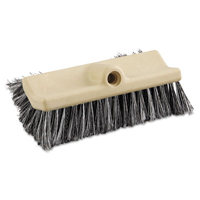 "Dual-Surface Vehicle Brush, 10"" Long, Brown Handle"