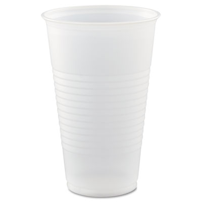 Conex Translucent Plastic Cup, Cold, 16oz, 50/Bag, 20 Bags/Carto