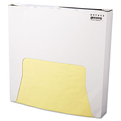 Grease-Resistant Wrap/Liner, 12 x 12, Yellow, 1000/Box, 5 Boxes/