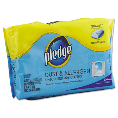 Dust & Allergen Dry Refill Cloths, White, 8 x 11 1/2, 32/Pack, 6