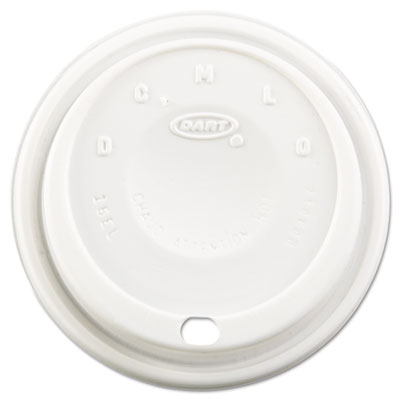 Cappuccino Dome Sipper Lids, Fits 12-24oz Cups, White, 1000/Cart