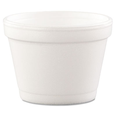 Hinged-Lid Food Containers, Foam, 4oz, White, 1000/Carton