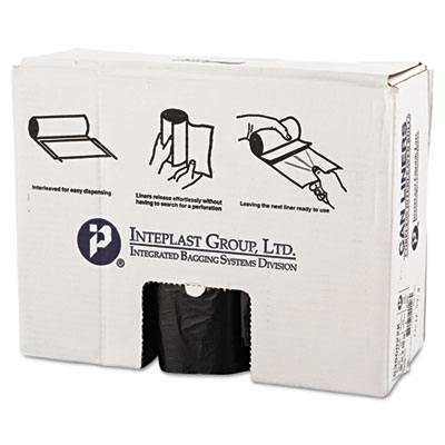 Commercial Can Liners, 60gal, 38 x 60, 22 Microns, Black, 150/Ca