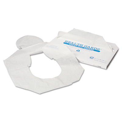 Health Gards Toilet Seat Covers, Half-Fold, White, 250/Pack, 4 P