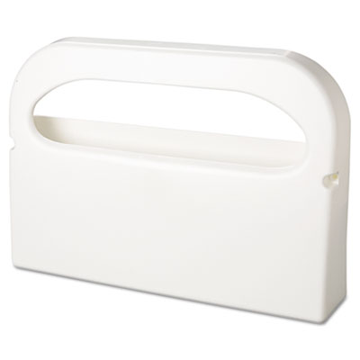 Toilet Seat Cover Dispenser, Half-Fold, Plastic, White, 16w x 3