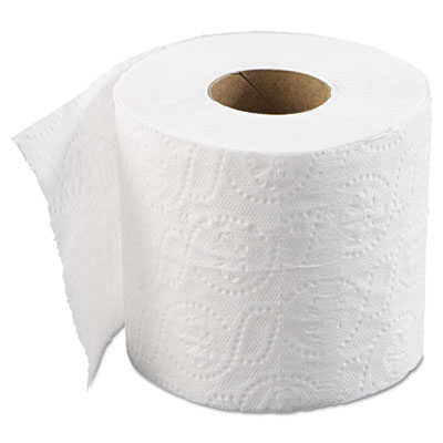 Bathroom Tissue, Standard, 2-Ply, White, 4 x 3 Sheet, 500 Sheets