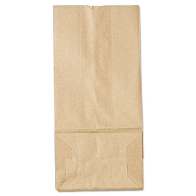 5# Paper Bag, 35lb Kraft, Brown, 5 1/4 x 3 7/16 x 10 15/16, 500/