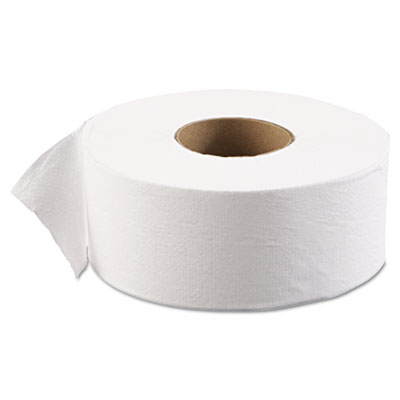 "JRT Jr. Bath Tissue, Jumbo, 1-Ply, 3 5/8"" x 2000ft, 9"" dia, Whit"