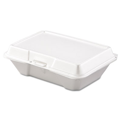 Carryout Food Container, Foam, 1-Comp, 9 3/10 x 6 2/5 x 2 9/10,
