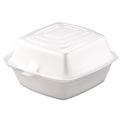 Carryout Food Container, Foam, 1-Comp, 5 1/2 x 5 3/8 x 2 7/8, Wh