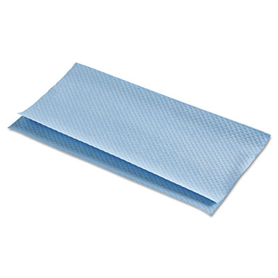 Folded Paper Towels for Windshields, 9 x 9 1/2, Blue, 300/Pack,