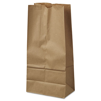 16# Paper Bag, 40lb Kraft, Brown, 7 3/4 x 4 13/16 x 16, 500/Pack