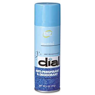 Unscented Anti-Perspirant & Deodorant, 4oz Aerosol, 24/Carton
