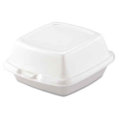 Carryout Food Containers, Foam, 1-Comp, 5 7/8 x 6 x 3, White, 50