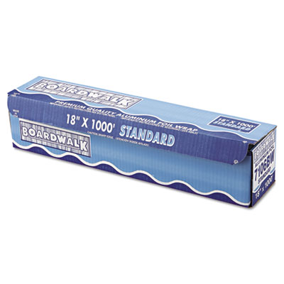 "Standard Aluminum Foil Roll, 18"" x 1000ft, 14 Micron Thickness,"